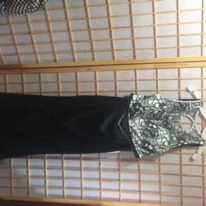 Black and white 2 piece dress